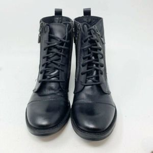 Vince Camuto NINTIE Motorcycle Lace Up Boots
